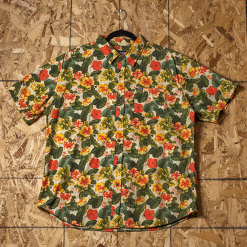 Vintage Phat Farm Floral Button Up Shirt sz XL