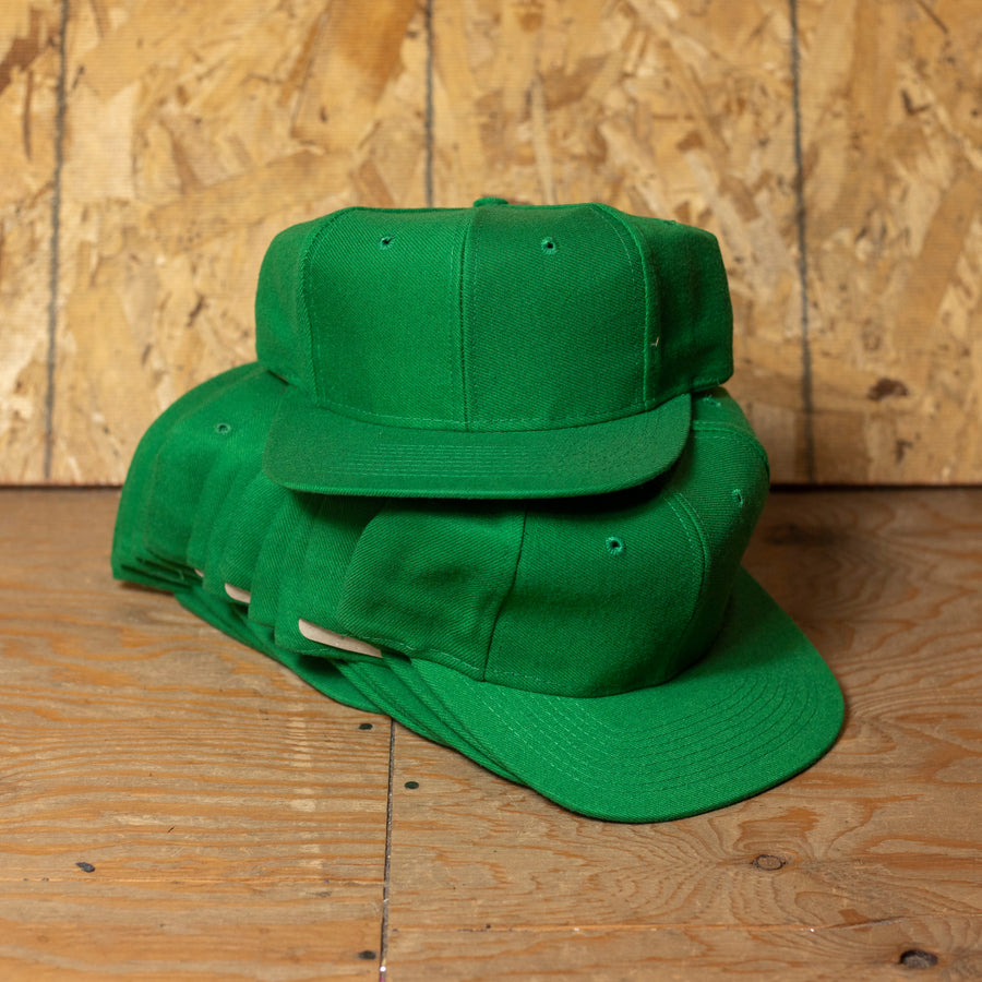 Wholesale Deadstock Green Snapback Hats (Lot of 12)