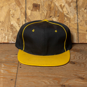 Deadstock Black W/ Yellow Rim Blank Snapback Hat