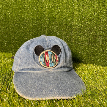 Mickey Mouse Denim Strap Back Hat