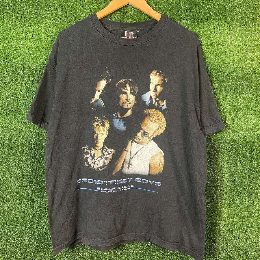 Back Street Boys Black And Blue Tour T Shirt