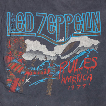 "Vintage Led Zeppelin ""Rules America 1979"" T-Shirt sz M (Women's Fit)"