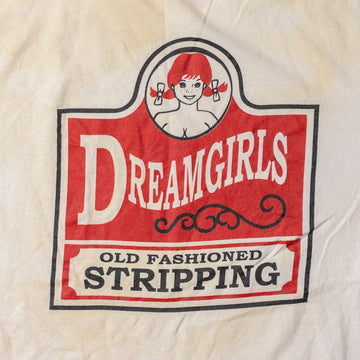 "Vintage Dreamgirls ""Old Fashioned Stripping"" T-Shirt sz XL"