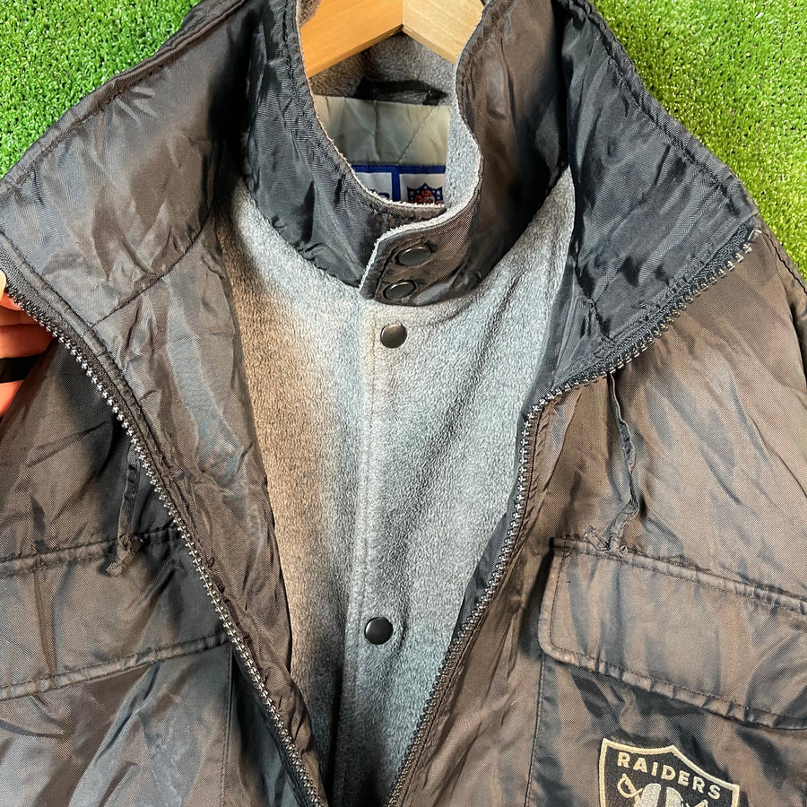 Vintage LA Raiders Fleece Lined Jacket