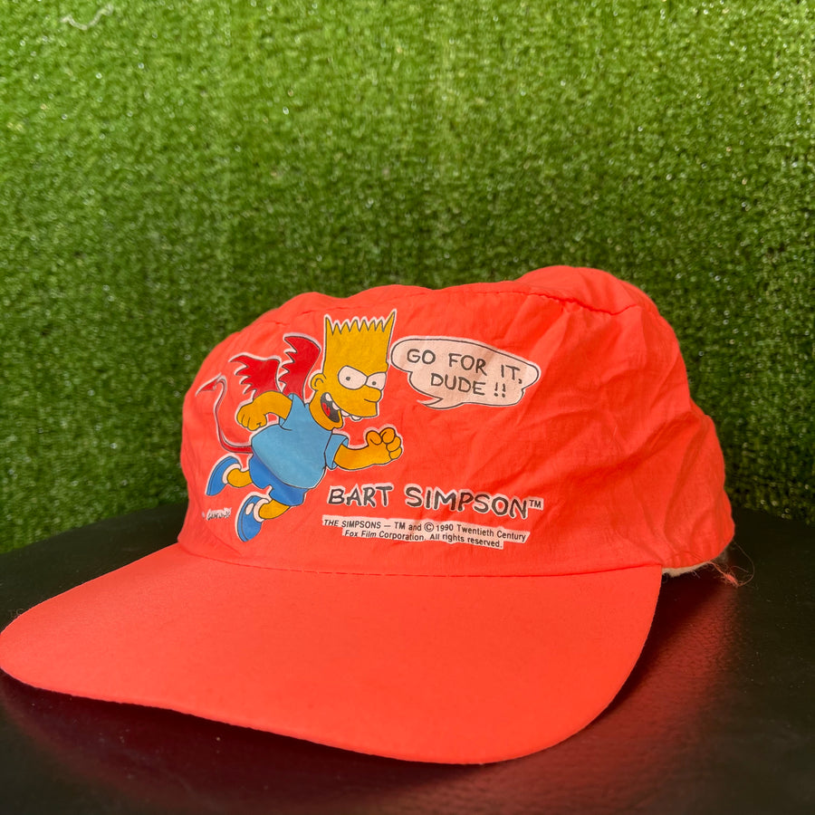 Vintage Deadstock Bart Simpsons 1990 Painters Hat