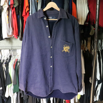 Vintage Polo Ralph Lauren Button Up Sweatshirt SZ L