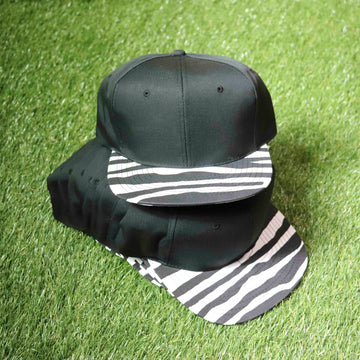 Wholesale Deadstock Vintage Black White Zebra Print Snapback Hat