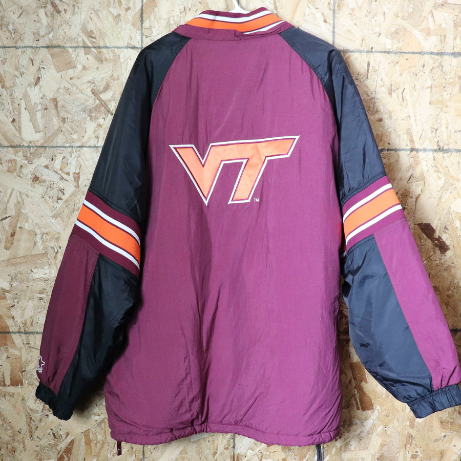 Vintage VT Virginia Tech Starter Jacket Size XL