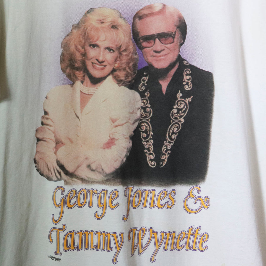 Vintage George Jones & Tammy Wynette T-Shirt Size XL