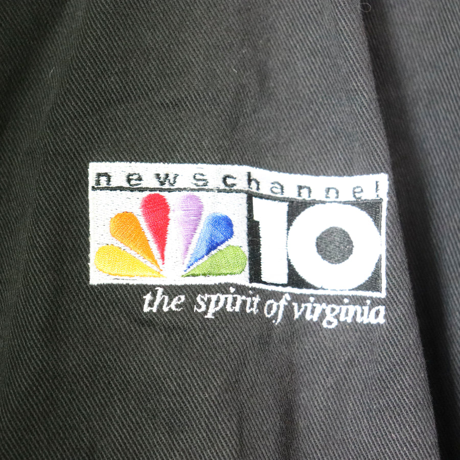 Vintage NBC News Channel 10 Jean Varsity Jacket Size L