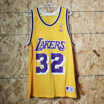 Vintage LA Lakers Magic Johnson NBA Basketball Jersey Size 48