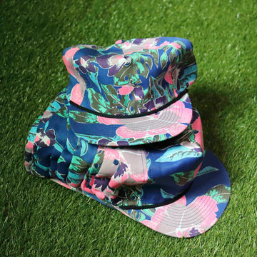 Wholesale Deadstock Vintage Blue Pink Green Aztec Hawaiian Print Snapback Hat