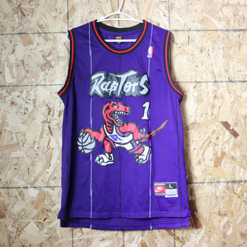 Vintage Nike Toronto Raptors Tracy McGrady NBA Basketball Jersey Size L