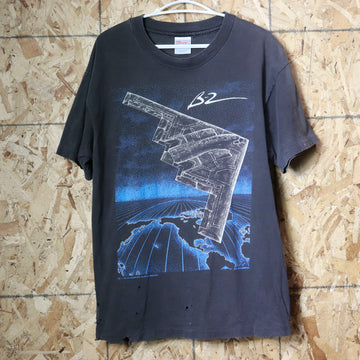 Vintage 90s Blackbrid B-2 B2 Fighter Jet T-Shirt Size L