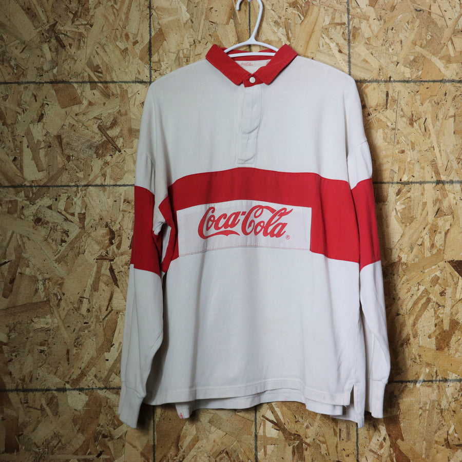 Vintage Coca-Cola Golf Polo Shirt Size N/A