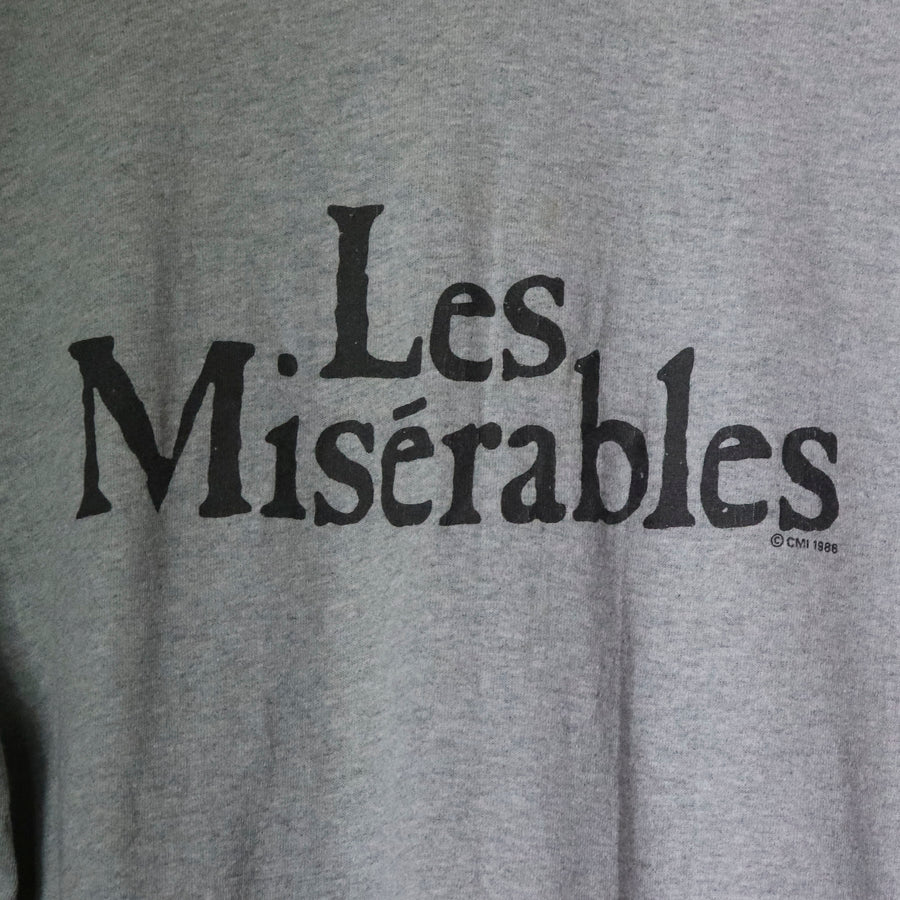 Vintage 1986 Les Miserables Girl T-Shirt Size XL