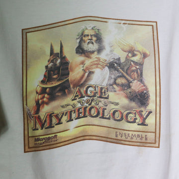 Vintage Microsoft Ensemble Studios Age Of Mythology Gaming T-Shirt Size L