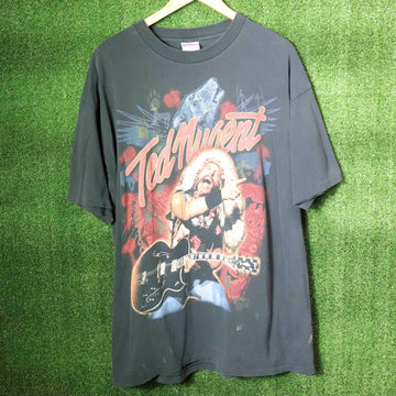 Vintage Ted Nugent Kiss My Ass I'm A American T-Shirt SZ XL