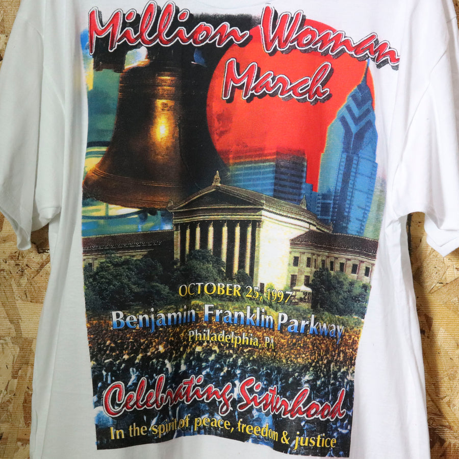 Vintage 90s Million Woman March T-Shirt Size XXL