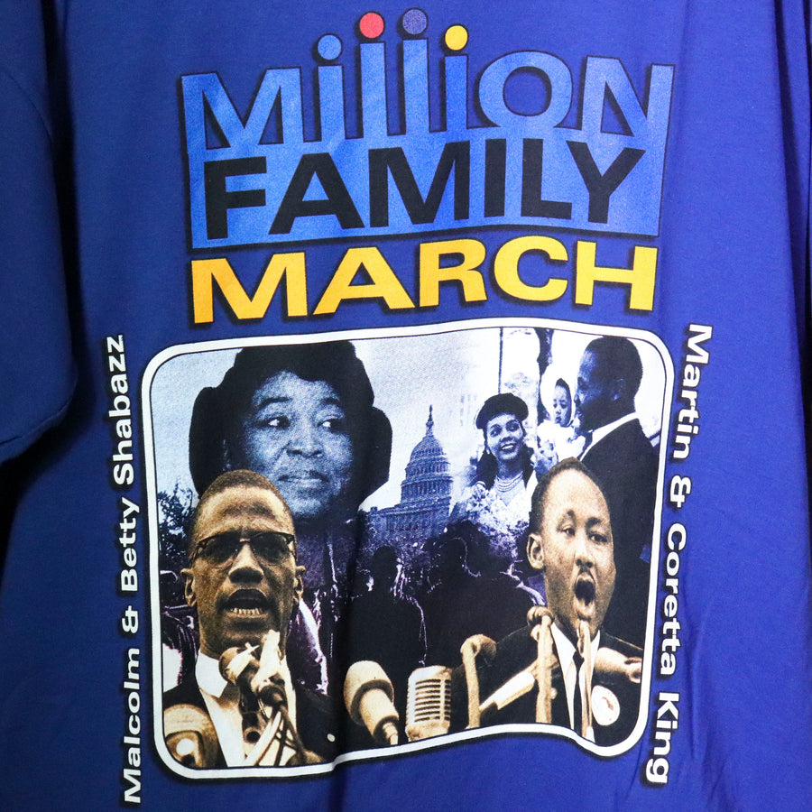 Vintage 90s Million Family March T-Shirt Size XXL