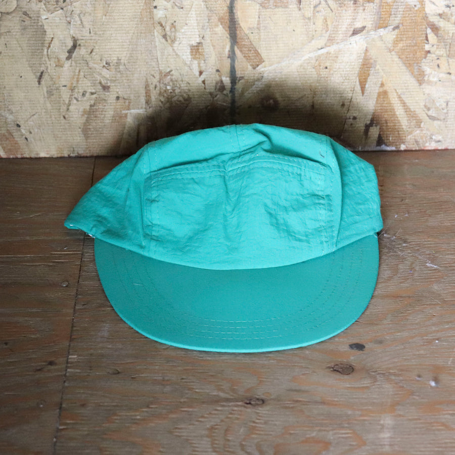 Vintage Teal Blue Green Long Bill Hat