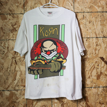 Vintage 1996 Crazy Clown Korn T-Shirt Size XL