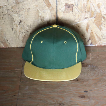 Deadstock Vintage Green Yellow Side Stripe Snapback Hat