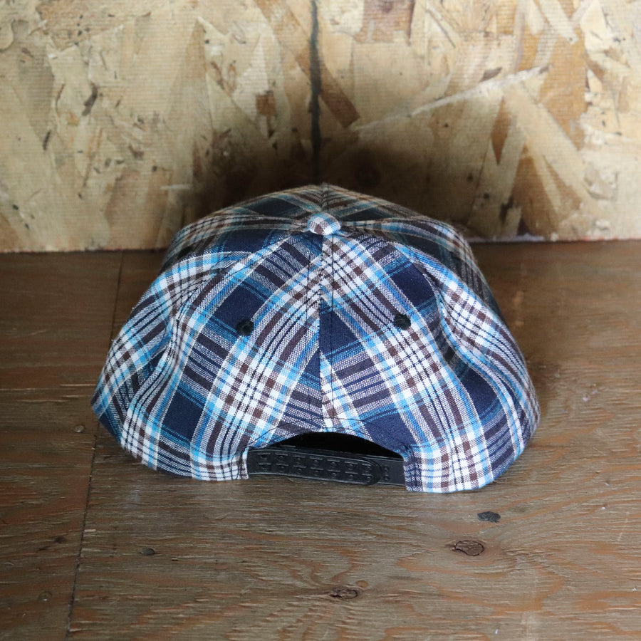 Deadstock Vintage Blue Plaid Snapback Hat