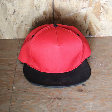 Deadstock Vintage Red Black Snapback Hat
