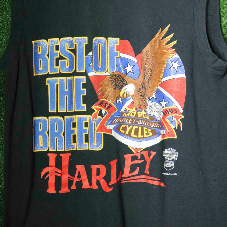 Vintage Harley Davidson Best Of The Breed Tank Top SZ L