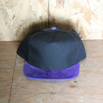 Deadstock Vintage Black Purple Snapback Hat