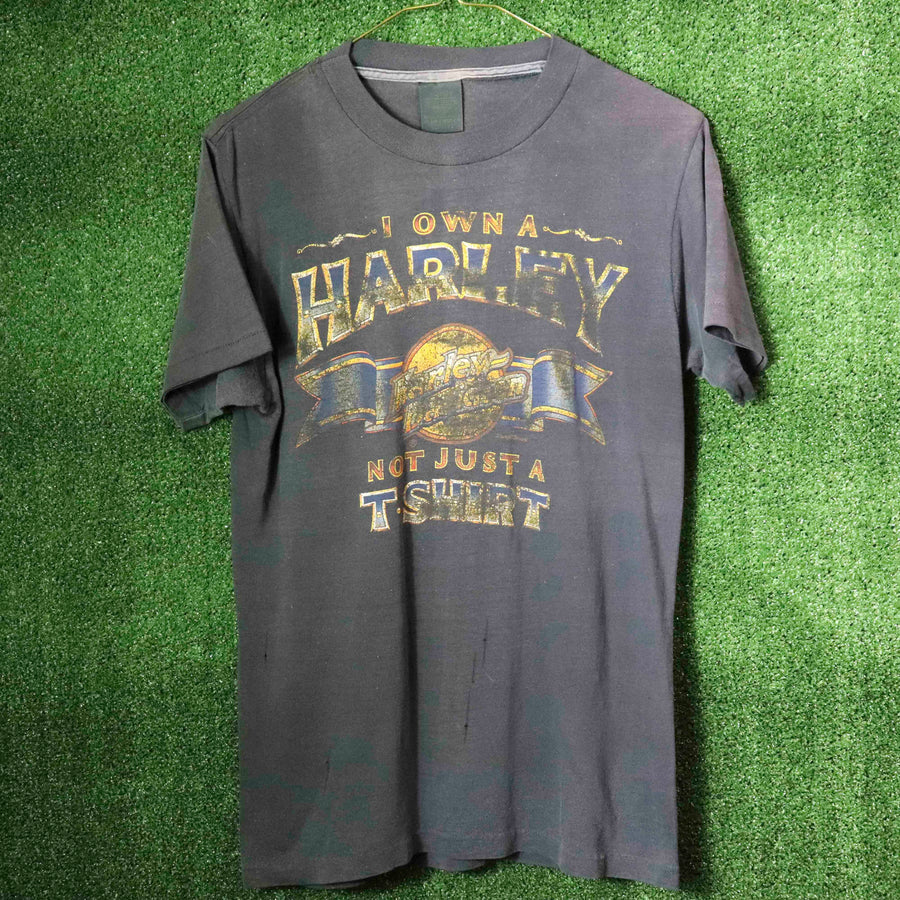 Vintage Harley Davidson I Own A Harley Not Just A T-Shirt SZ M