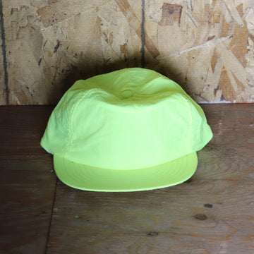 Deadstock Vintage Highlighter Green Yellow Snapback Hat