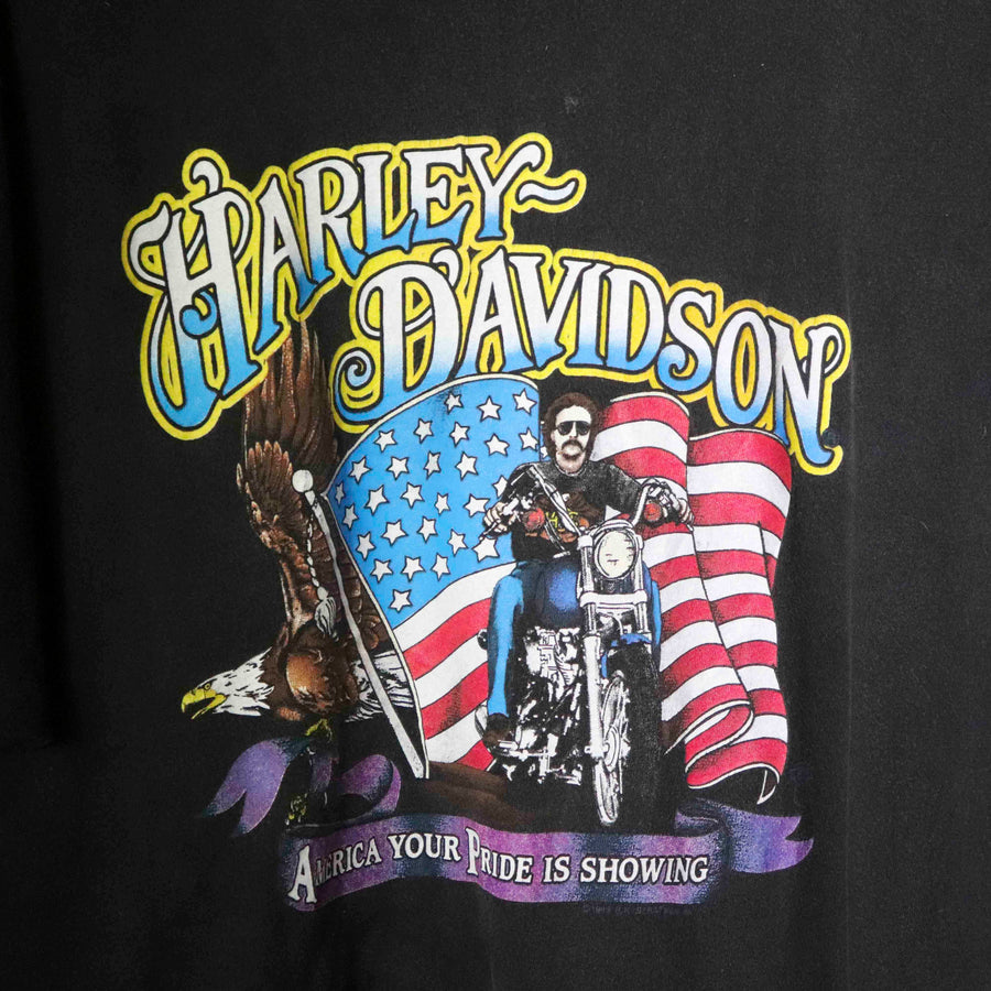 Vintage Harley Davidson America Your Pride Is Showing T-Shirt SZ N/A