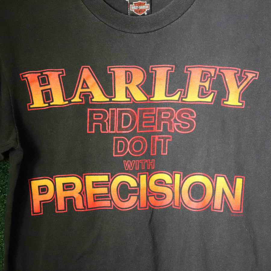 Vintage Harley Davidson Harley Riders Do It With Precision T-Shirt SZ M
