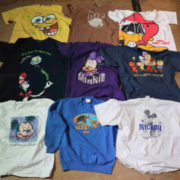 Vintage Wholesale T-Shirt Bundle - Cartoon #2 (11 pieces)