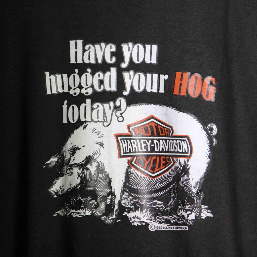 Vintage Harley Davidson Motorcycle Have You Hugged Your Hug Today T-Shirt SZ N/A