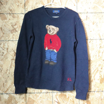 Vintage Polo Ralph Lauren Polo Bear Knit Sweater Size L