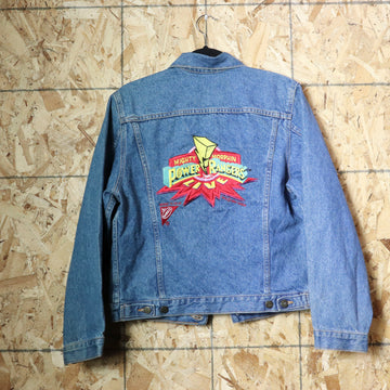 Vintage 90s Power Rangers Mighty Morphin Live Nabisco Jean Jacket Size 14/16
