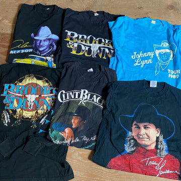 Vintage Wholesale T-Shirt Bundle - Country Music #1 (6 Tees)