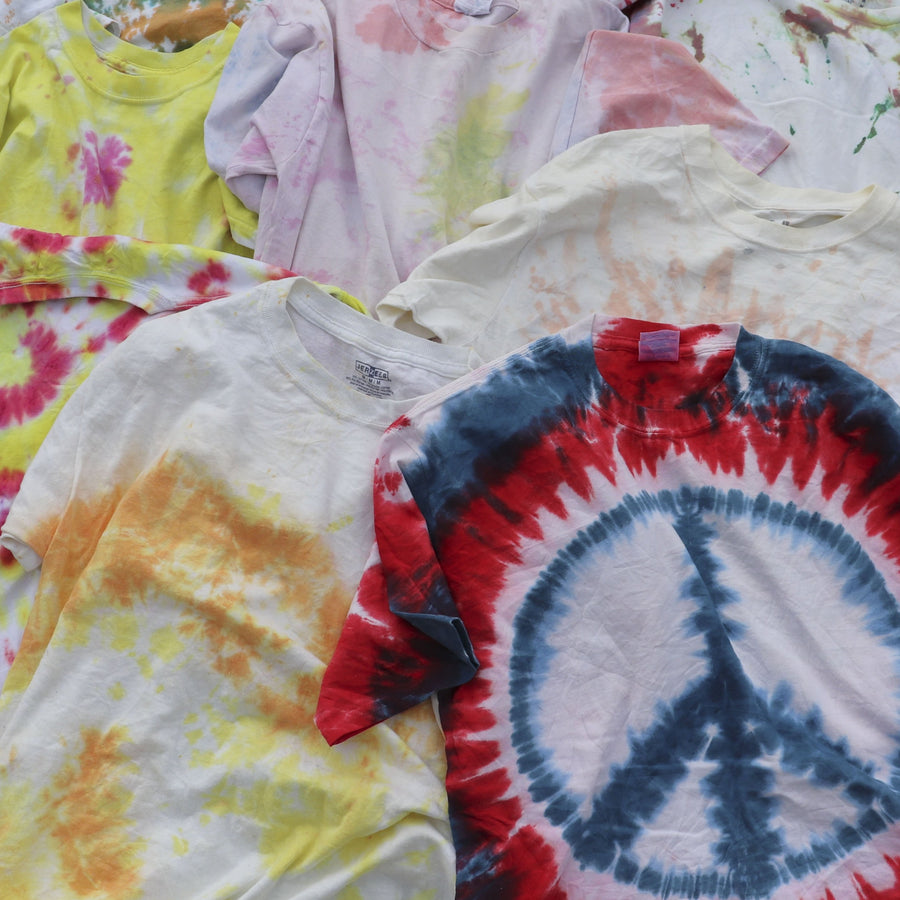 Wholesale Vintage Bundle of Tie Dye T-Shirts (Lot of 12)
