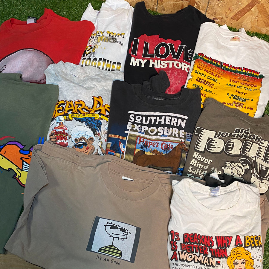 Vintage Wholesale T-Shirt Bundle - Mixed #4 (12 tshirts)