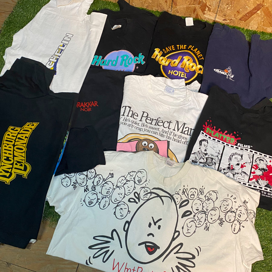 Vintage Wholesale T-Shirt Bundle - Mixed #5 (12 tshirts)
