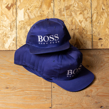 Wholesale Deadstock Blue Hugo Boss Velcro Hats (Lot of 12)
