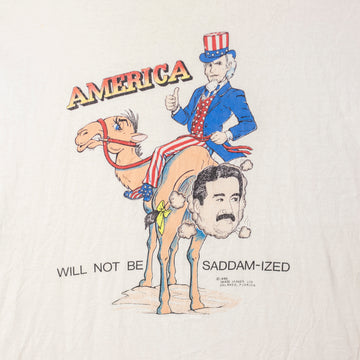 "Vintage 90's ""America Will Not Be Saddam-ized"" T-Shirt sz XL"
