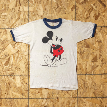 Vintage 80s Mickey Mouse Ringer T-Shirt sz S