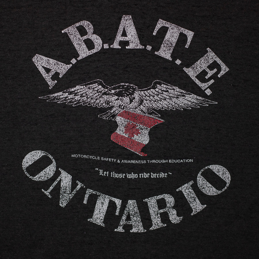 Vintage A.B.A.T.E. Motorcycle Safety Single Stitch T-Shirt