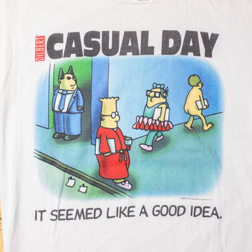 "Vintage Gilbert ""Casual Day"" T-Shirt sz L"