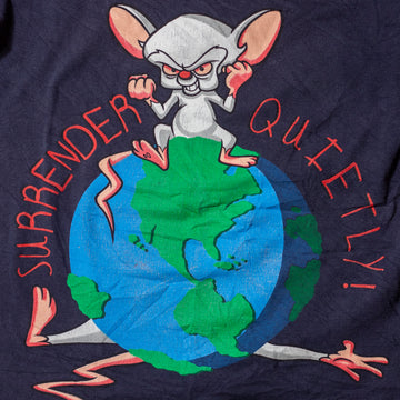 Vintage 90's Pinky and the Brain Single Stitch T-Shirt sz XL (Youth)
