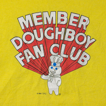 Vintage 80's Pillsbury Doughboy Single Stitch T-Shirt sz L